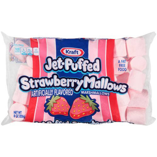 Kraft Jet-Puffed Strawberry Mallows Marshmallows, 8 oz