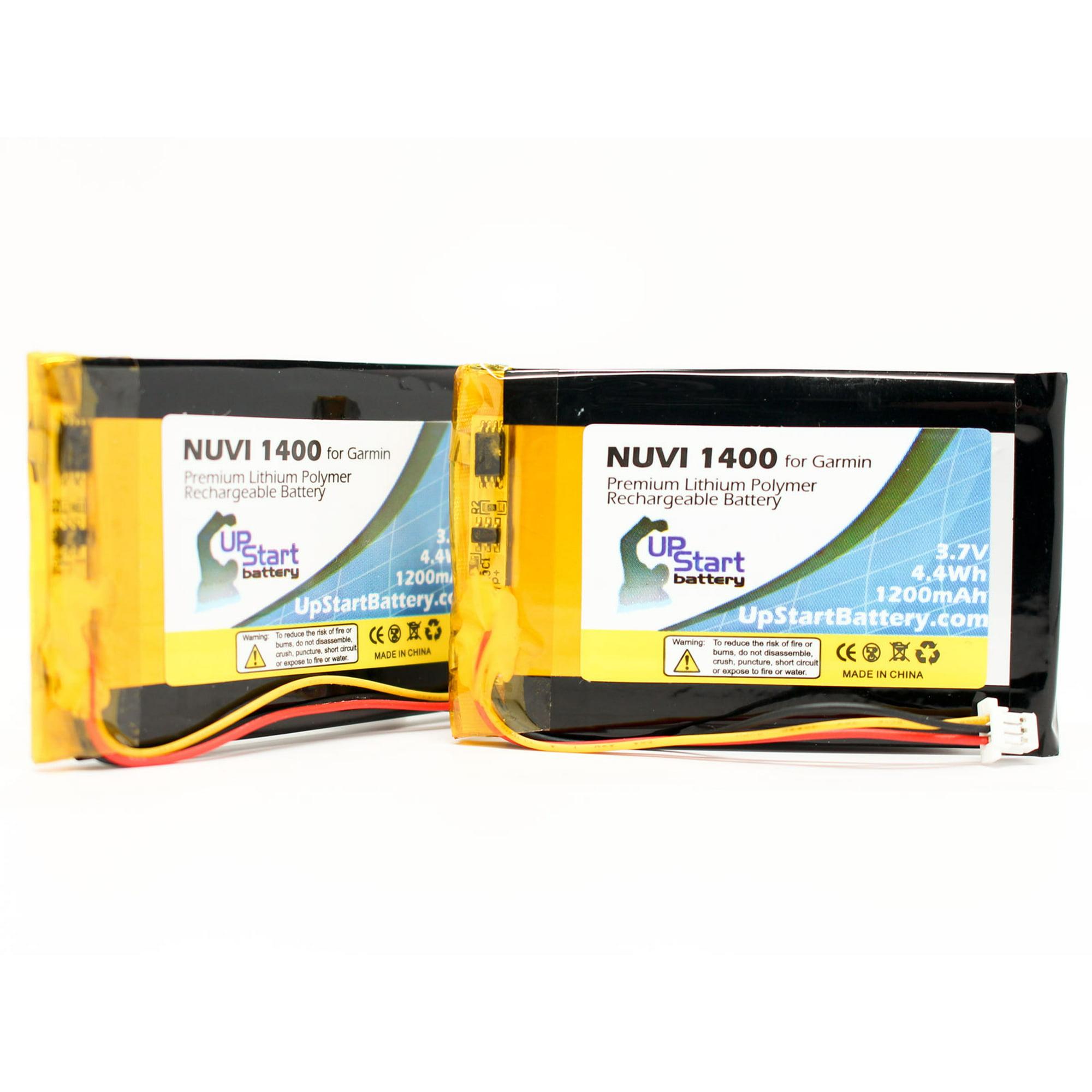 2x Pack - Garmin Nuvi 1400 Battery - Replacement for Garmin ED38BD4251U20  GPS Battery (1200mAh, 3 7V, Lithium Polymer)