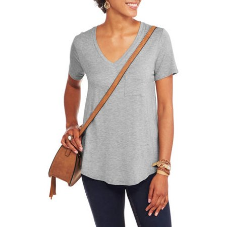 Product Relaxed fit women s v neck t shirt