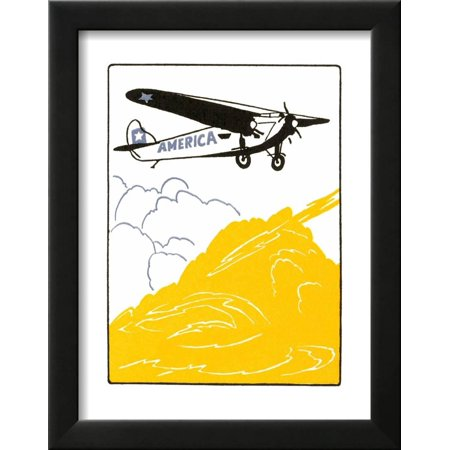 America High-Wing Airplane Framed Print Wall Art By Found Image ...