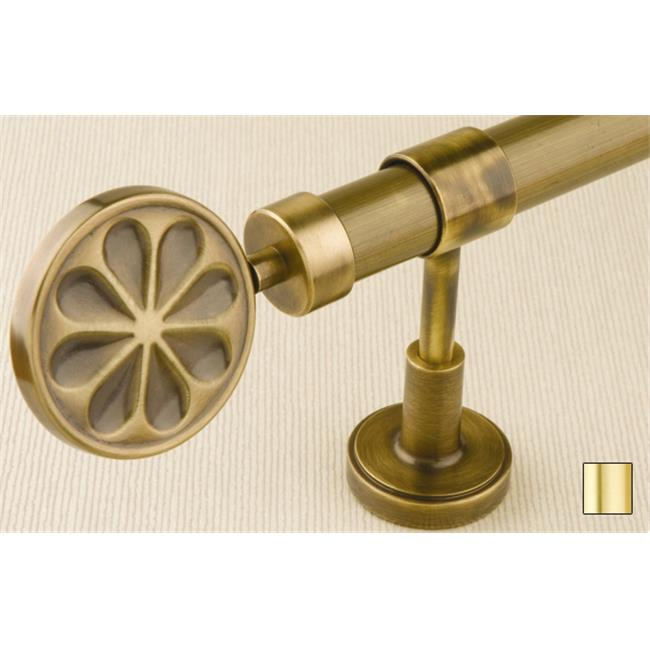 Liber 1134 Curtain Rod Set - 1 in. - Matte Brass - 63 in. - image 1 of 1