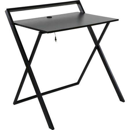 34.75 x 32.25 x 24.5 in. No Assembly Required Desk with Dual USB Charger, Black - image 1 de 1