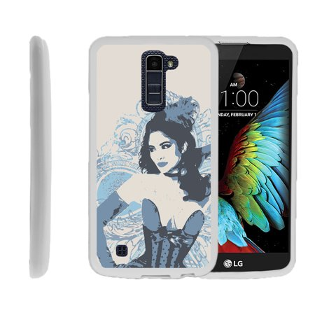LG K10, LG Premier LTE, K430, Flexible Case [FLEX FORCE] Slim Durable TPU Sleek Bumper with Unique Designs - Vintage Dancer
