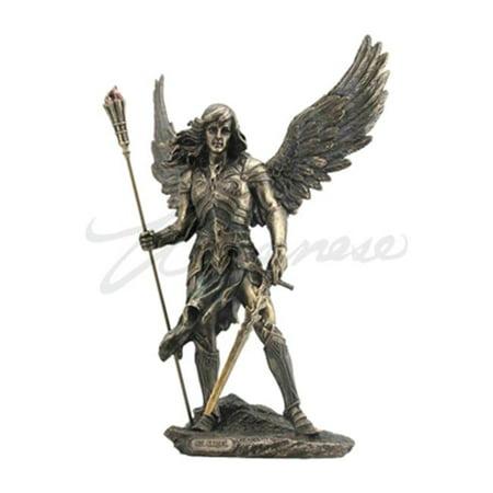 Veronese Design WU76061A4 Saint Sariel with Sword Cold Cast Figurine - Bronze Studio Cast Designs
