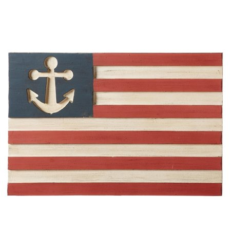 265 Red White And Blue Patriotic Anchor Flag Designed Wall Decor