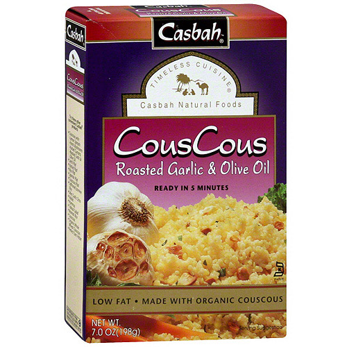 Casbah Roasted Garlic & Olive Oil Couscous, 7.0 oz (Pack of 12)