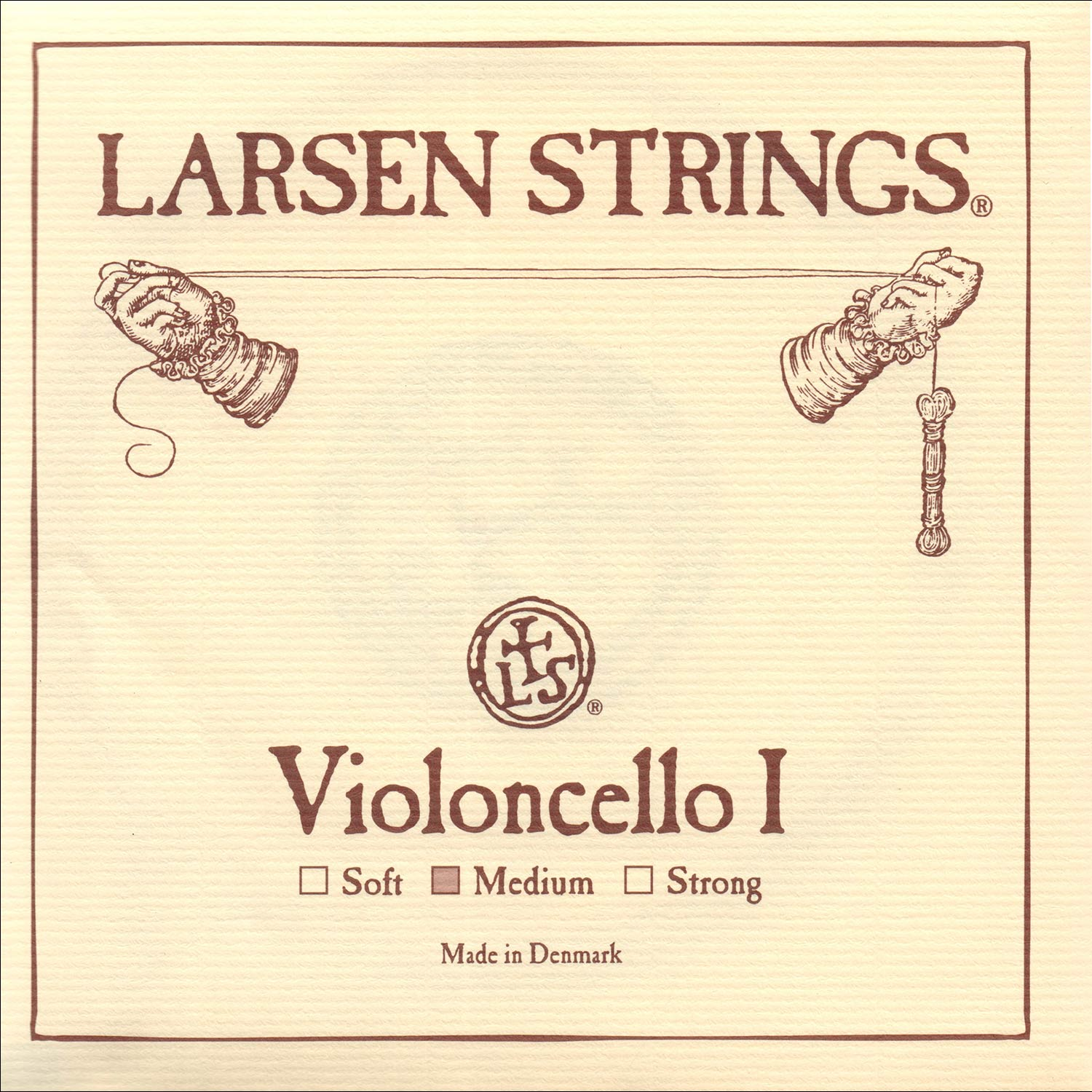Larsen 4 4 Cello String Set Medium Gauge by Larsen