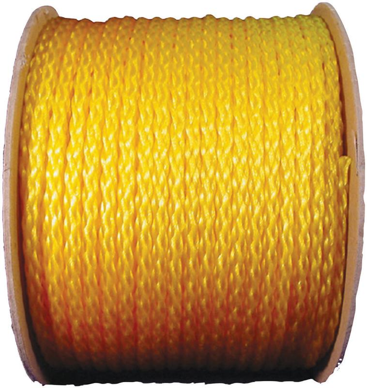 Wellington 10810/27-303 Hollow Braided Mono-Filament Rope, 1/4 in Dia x 1000 ft L, 81 lb, Polypropyl