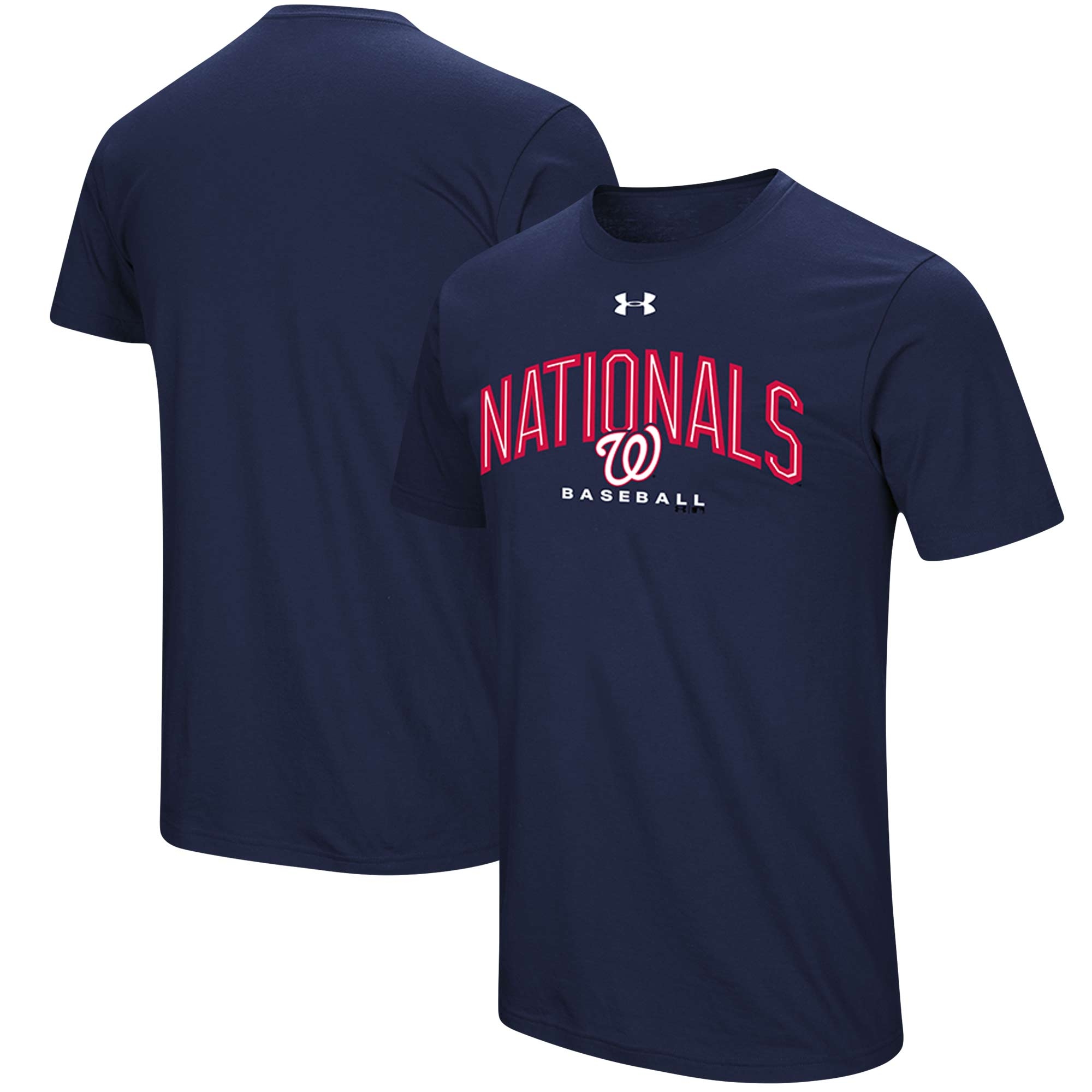 Washington Nationals Under Armour Performance Arch T-Shirt - Navy