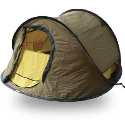 Pop Up 3-Man Camping Tent, EZ Set Up in Seconds!