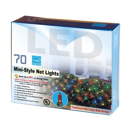 70 multi color christmas lights shrub wrap net lights string set indooroutdoor