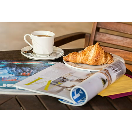 Peel-n-Stick Poster of Read Relax Magazine Style Coffee Break Media Cup Poster 24x16 Adhesive Sticker Poster Print ()