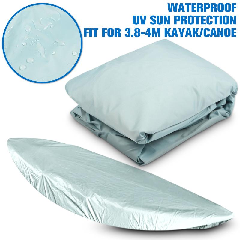 Waterproof UV Sun Protection 3.8-4m(12-13FT) Kayak Canoe Marine Boat Dust Cover Storage