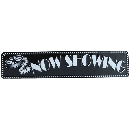 Now Showing Tin Sign Vintage Movie Theatre Film Reel Wall Decor New Home Gift