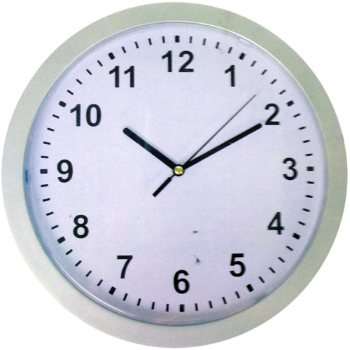 Wall Clock with Hidden Safe (Round Clock). Hide valueable inside the clock. Product Size: 9.84 x 9.84 x 2.75