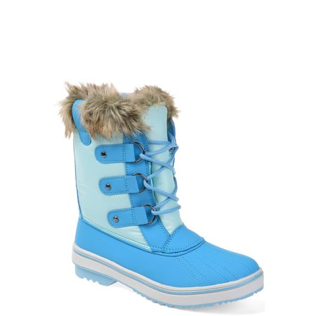 Womens Lined Lace-up Snow Boot