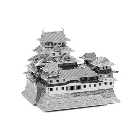 3D Puzzles Himeji Castle Silver 3D Metal Model Kit DIY Gift Model Building Educational Toys World Great Architecture