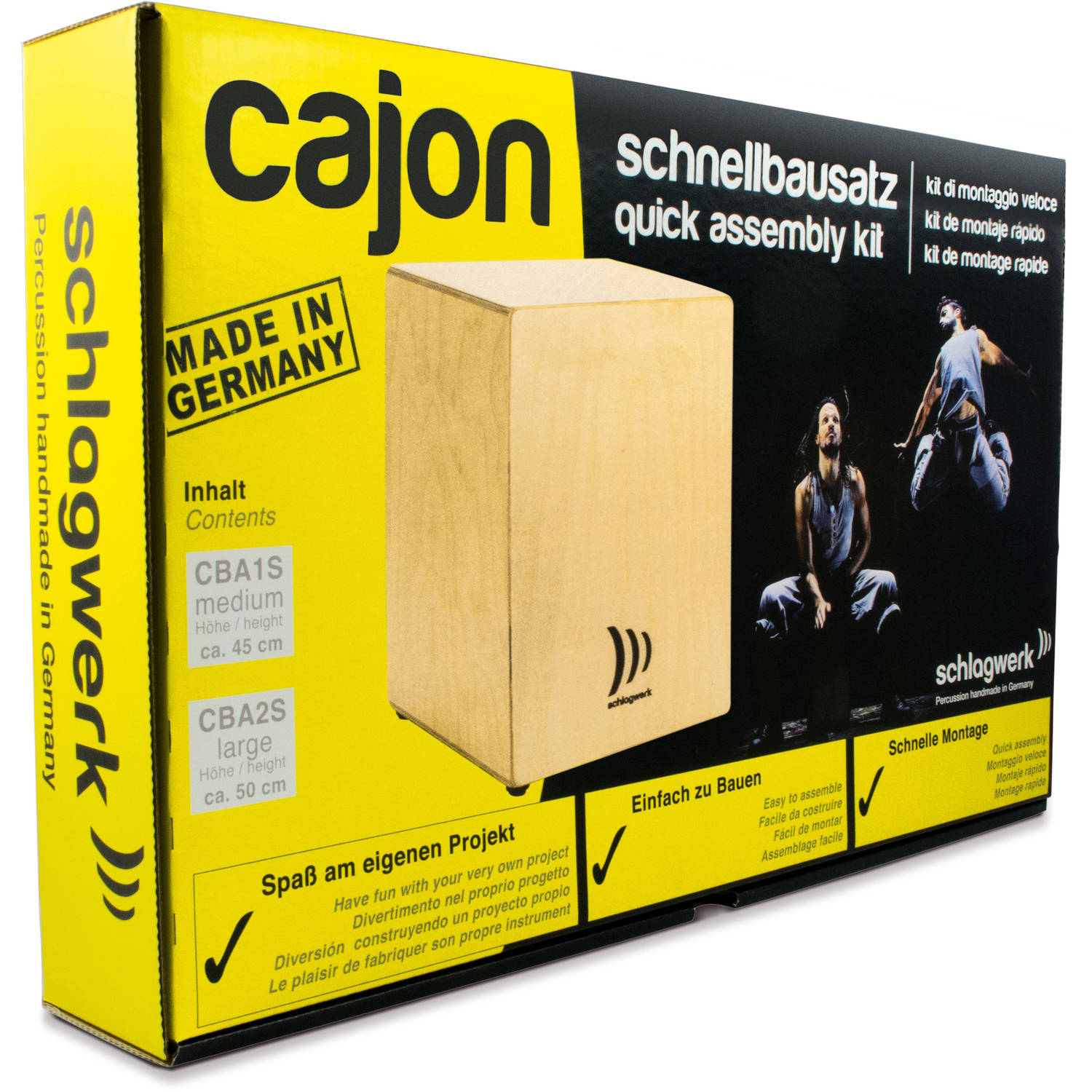 Schlagwerk Medium Cajon Construction Kit