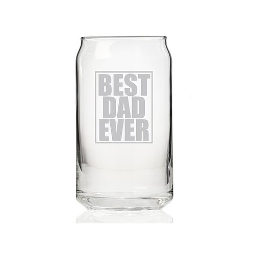 Chloe and Madison Best Dad Ever 16 oz. Can Glass (Set of 4)