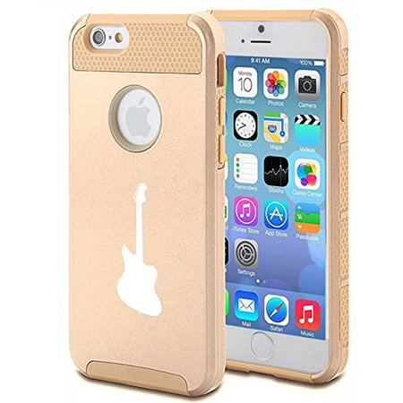 Apple Iphone 5C Shockproof Impact Hard Case Cover Bass Guitar  Gold  Mip