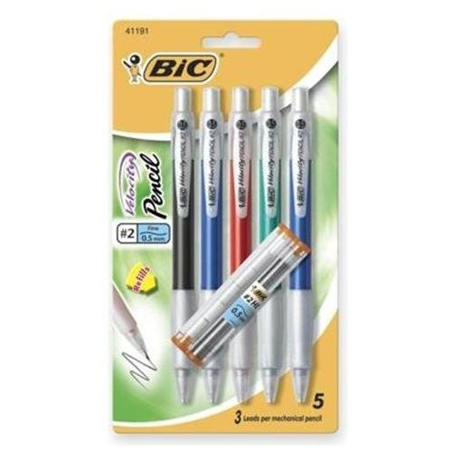 Bic Velocity Pencil - #2 Pencil Grade - 0.9 Mm Lead Size - 5 / Pack (MVP51)