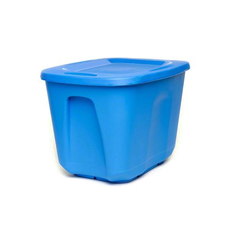 Homz 10 Gallon Storage Container, Capri Blue - Set of 5 ()