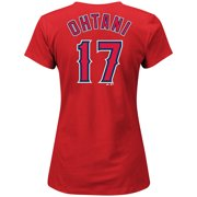 94f749df8 Shohei Ohtani Los Angeles Angels Majestic Women s V-Neck Name   Number T- Shirt