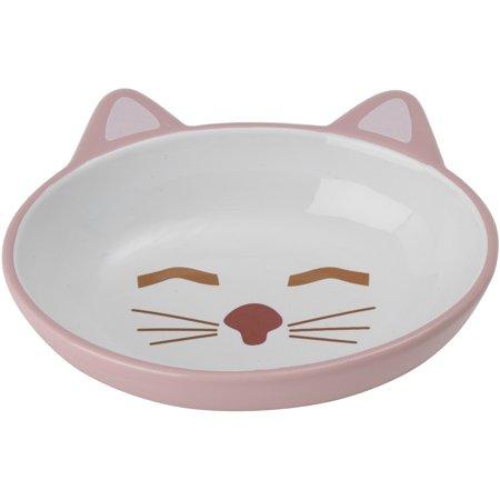 Petrageous Sleepy Kitty Oval Saucer 5.3Oz-Pink - image 1 of 1
