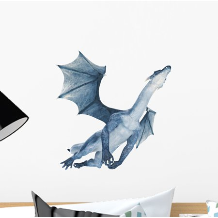 Flying Dragon Peel (Blue Dragon Flying out Wall Decal Sticker by Wallmonkeys Vinyl Peel and Stick Graphic for Girls (12 in H x 12 in W))