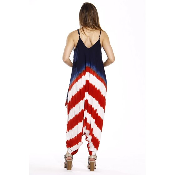 483841dc4b5 Riviera Sun - Riviera Sun Jumpsuit   Flag Jumpsuits for Women (Red ...