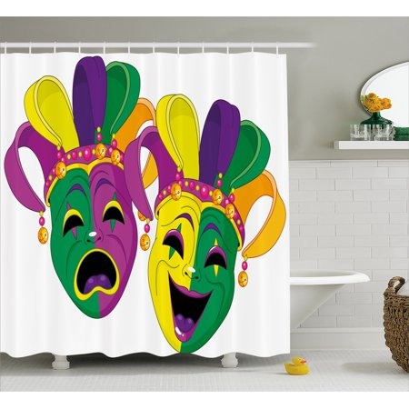 Mardi Gras Shower Curtain Traditional Masks Of Tragedy A
