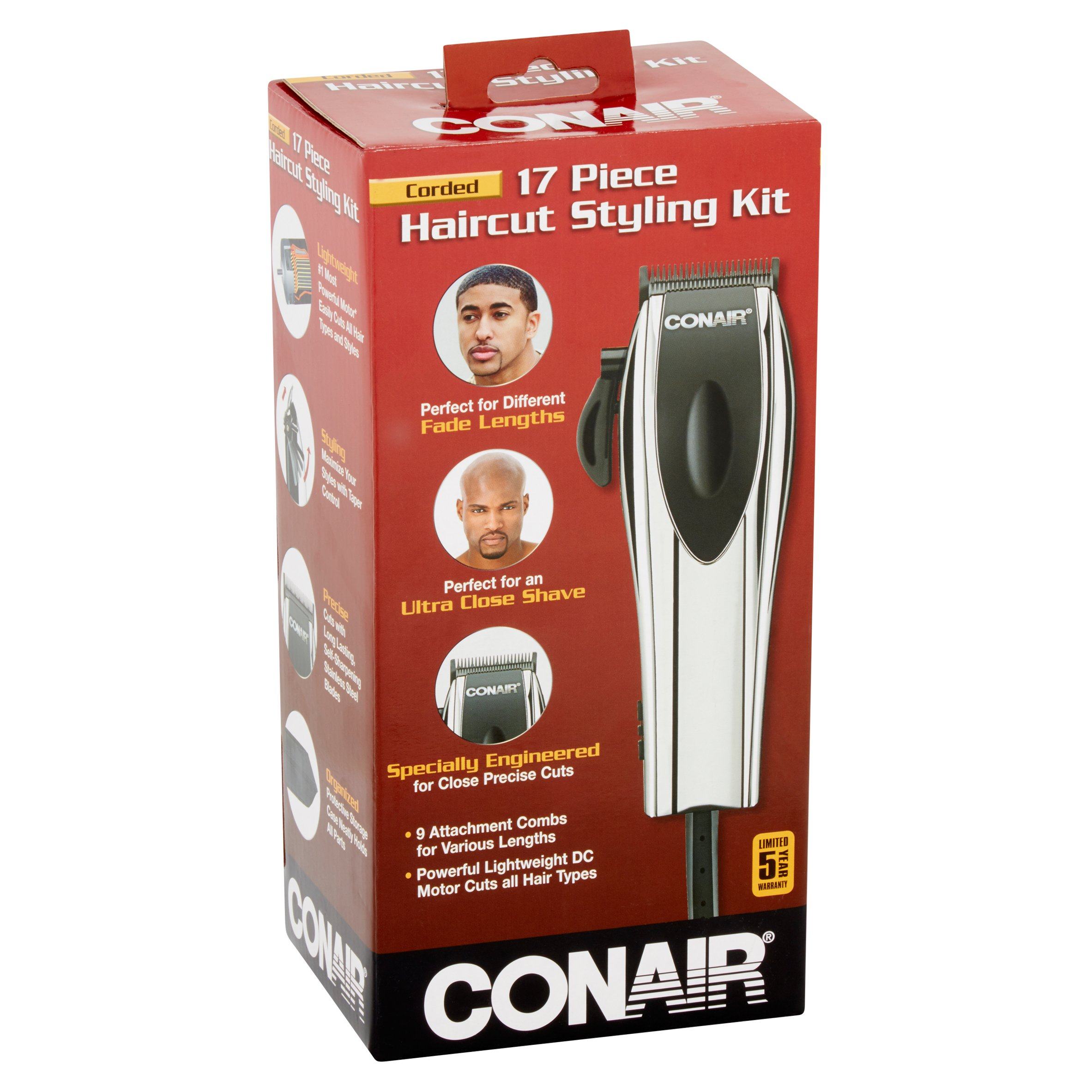 Conair Corded Haircut Styling Kit 17 Count Walmart
