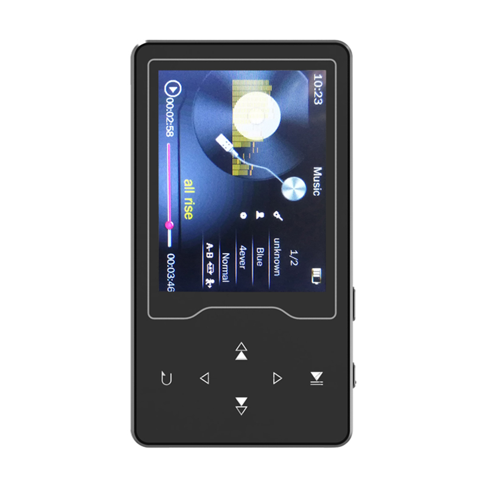 RUIZU D08 8GB MP3 MP4 Digital Player 2.4 Inch Screen Music Player Lossless Audio & Video Player FM Radio Recording E-book Reading TF Card Read & Play with Headphone