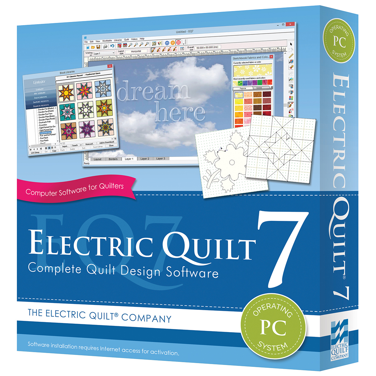 Electric Quilt 7 Multi-Colored