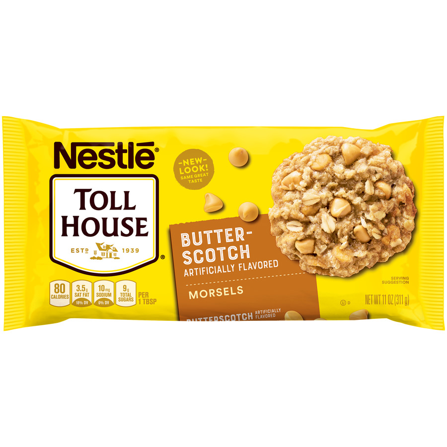 (3 Pack) NESTLE TOLL HOUSE Butterscotch Morsels 11 oz Bag