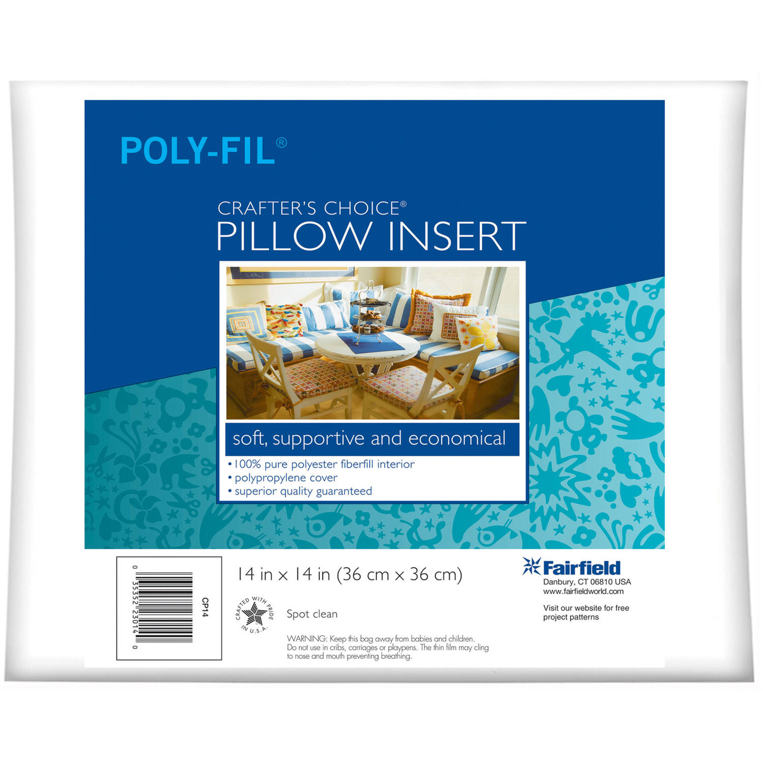 "Crafter's Choice Pillow Insert, 14"" x 14"" - Walmart.com"