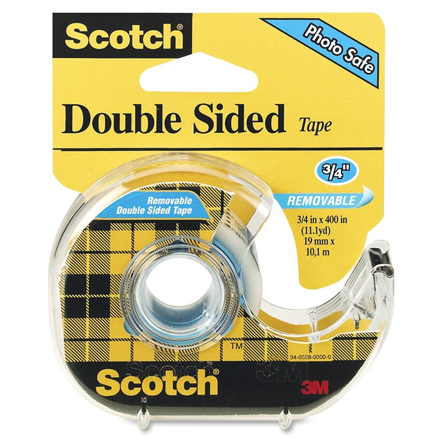 Scotch Removable Double-coated Tape, 3/4 in. x 400 in.