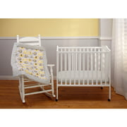 Little Bedding by NoJo Elephant Time 3-Piece Portable Crib Bedding Set, Yellow