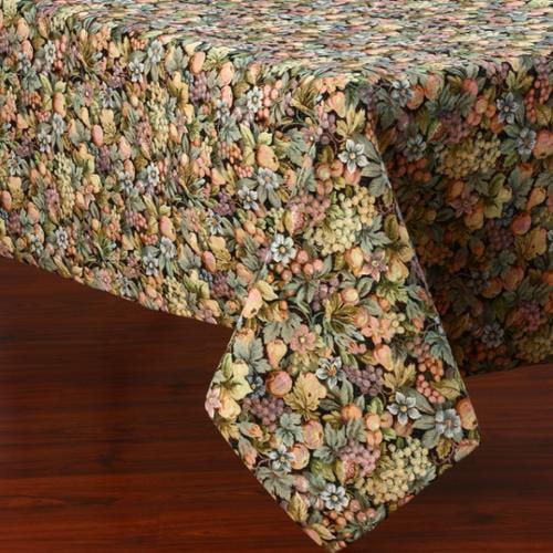 Corona Decor  Multicolor Floral Design 50 x 90-inch Italian Heavy Weight Tablecloth