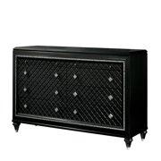 Furniture of America Braylene Glam 8-Drawer Dresser in Metallic Gray