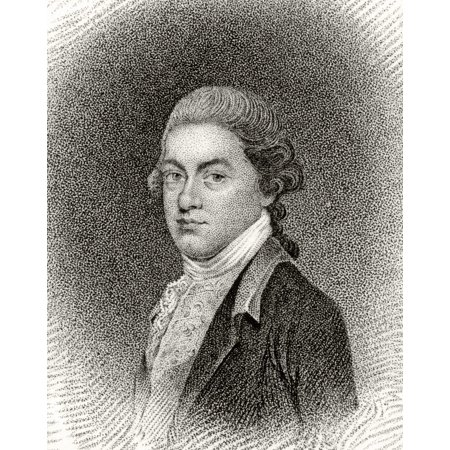 Thomas Lynch Jr 1749 To 1779 American Statesman And Founding Father A Signatory Of Declaration Of Independence 19Th Century Engraving By JB Longacre From An Enamel Painting Stretched Canvas - Ken Wel