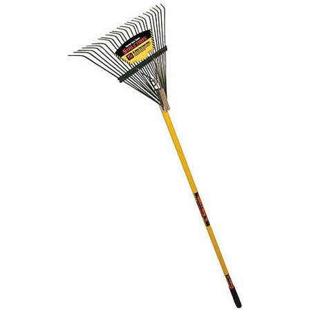 Seymour 40928 54 in Fiberglass Handle 24 Tine Lawn Rake