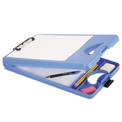 7520016222123 Skilcraft Deskmate Ii Plastic Storage Clipboard; Blue