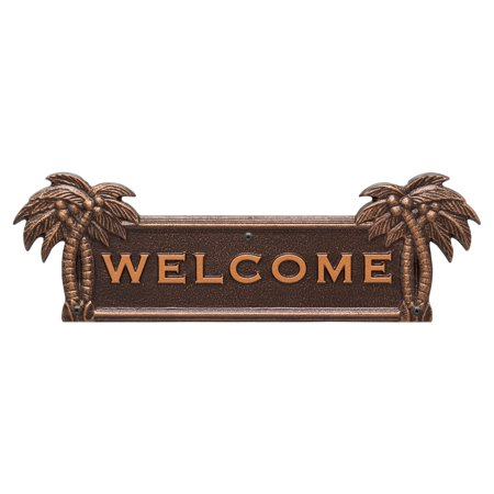 - Whitehall Palm Tree Welcome Plaque