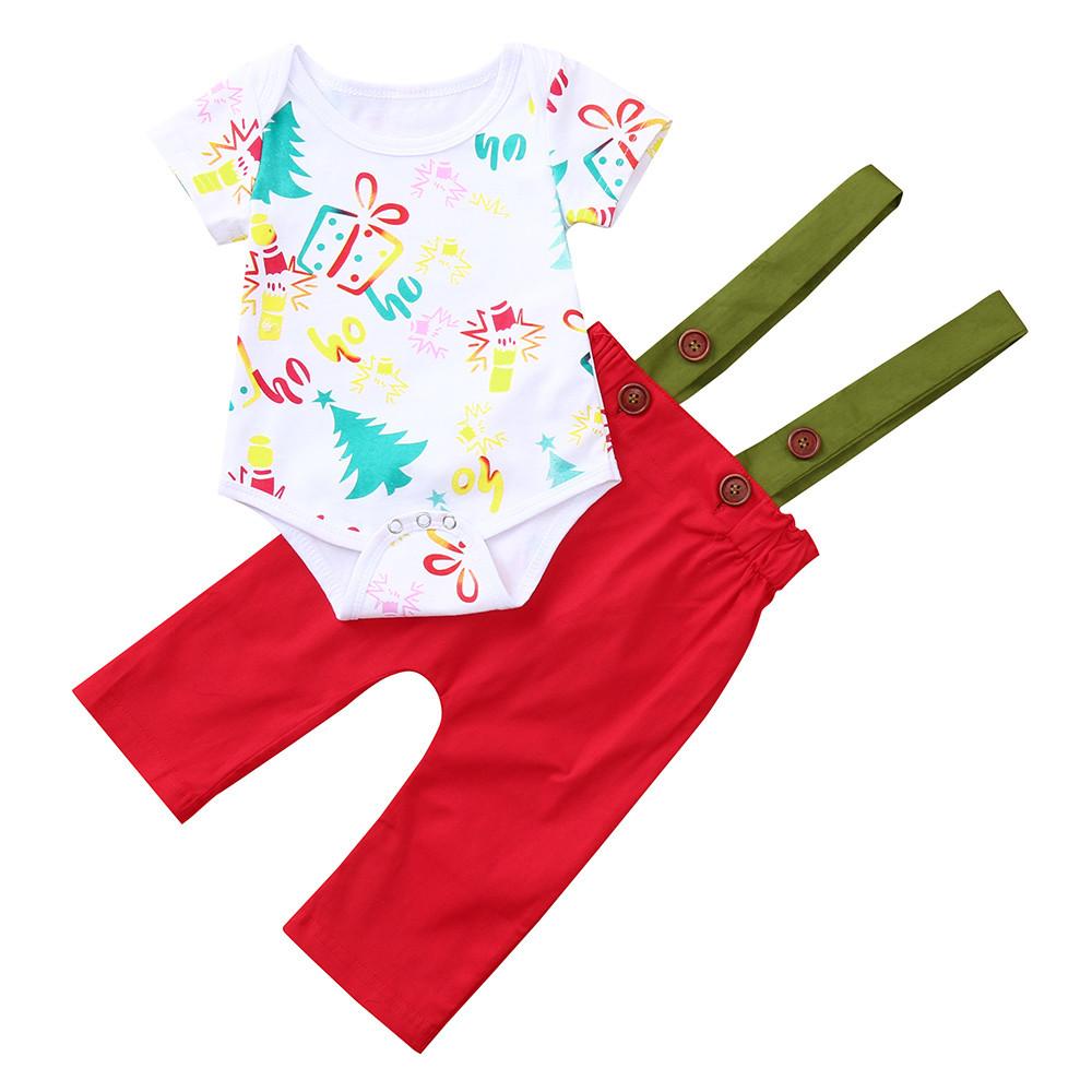aee90bbf3164 Mosunx - Mosunx Infant Baby Girl Boy Short Sleeve Christmas Jumpsuit ...
