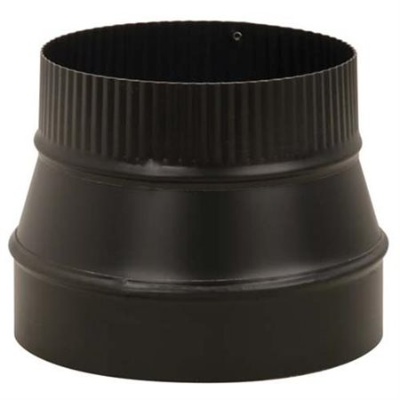 Imperial Mfg Group Usa BM0075 Black Stove Pipe Reducer, Small End Crimp, 24-Ga., 6 x 5-In.