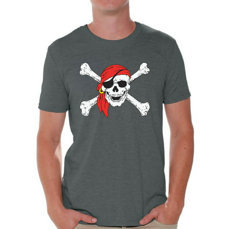 Awkward Styles Sugar Skull Shirts for Men Jolly Roger Skull and Crossbones Men