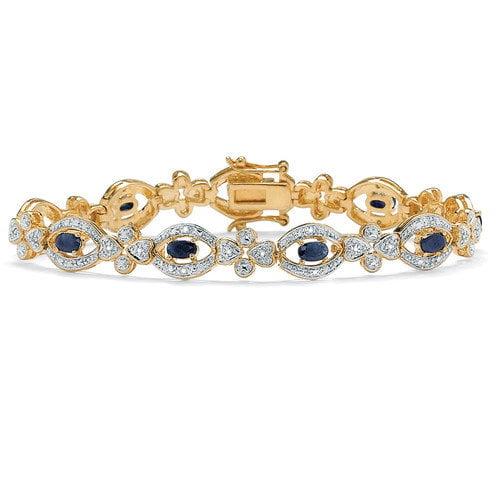 Palm Beach Jewelry Midnight Sapphire / Diamond Bracelet