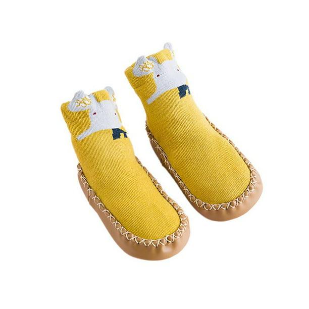 Non-Slip Soft Sole Socks With Rubber Soles Children Floor Sock Cute Baby Socks