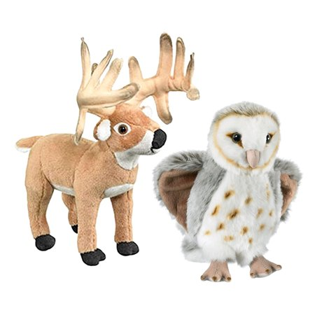 Super Pet Critter (Super Soft Plush Wild Life Artist Conservation Critters Barn Owl Plush and Wild Life Artist Conservation Critters Whitetail Deer Buck Plush )